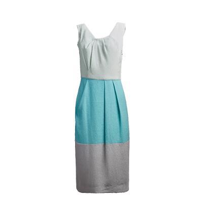colour block sleeveless dress grey